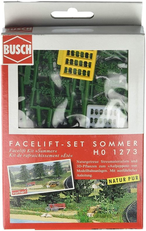 "Busch 1273  ""Face-lift"" sæt, sommer, H0 NYHED 2019"
