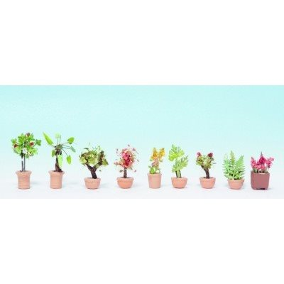 Noch 14082 Stueplanter i store blomsterpotter, H0 Nyhed 2014