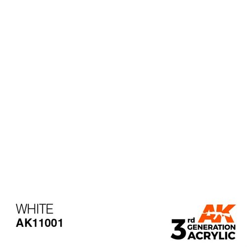 AK11001 Akryl maling, 17 ml, white - intense