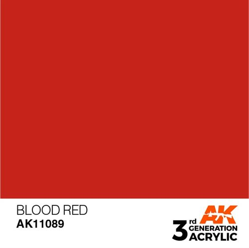 AK11089 Akryl maling, 17 ml, blood red - standard