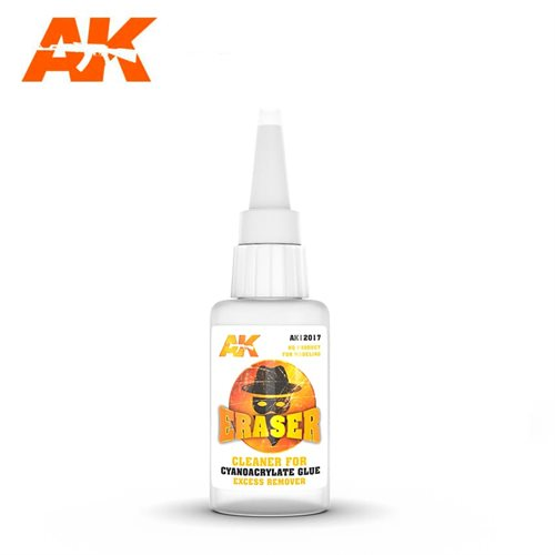 AK 12017 ERASER – CLEANER FOR CYANOCRYLATE GLUE EXCESS REMOVER