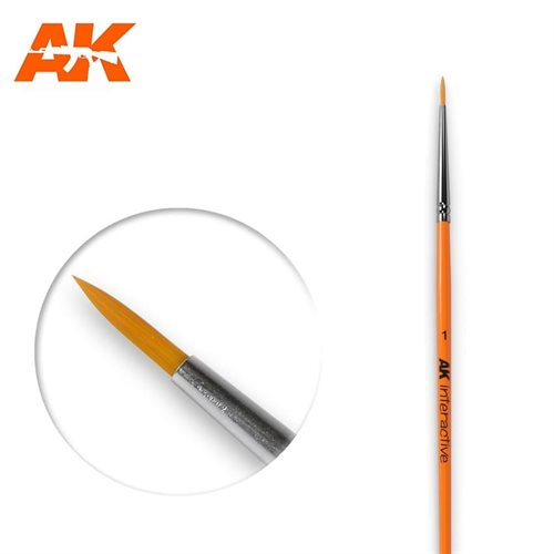 AK603 1 ROUND BRUSH. SYNTHETIC