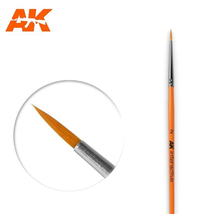 AK605 4 ROUND BRUSH. SYNTHETIC