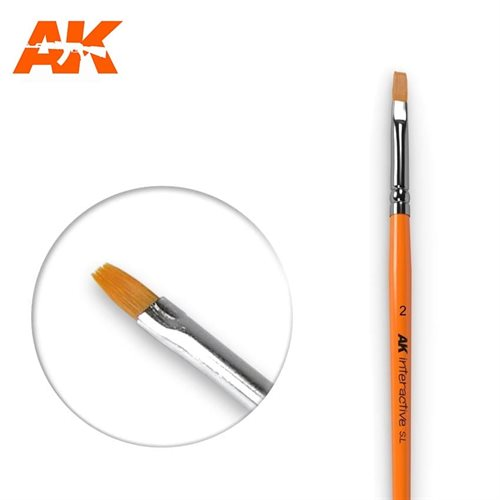 AK609 FLAT BRUSHES 2 SYNTHETIC