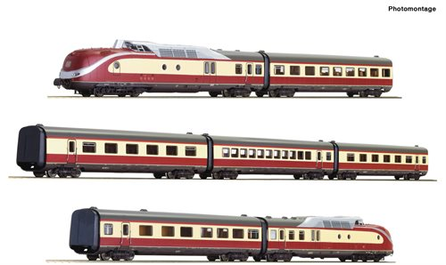 Roco 79935 7 piece set: Diesel multiple unit class 601, DB, AC, ep IV, NYHED 2020