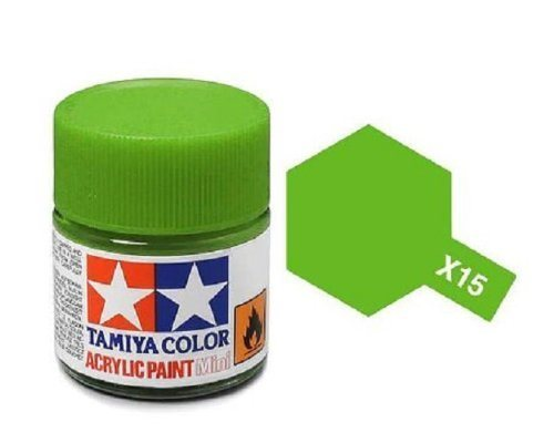 Tamiya 81515 Akryl maling, X-15, Light green, 10 ml