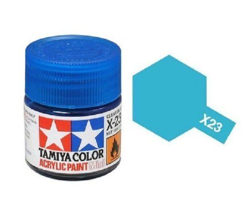 Tamiya 81523 Akryl maling, X-23, Clear blue, 10 ml