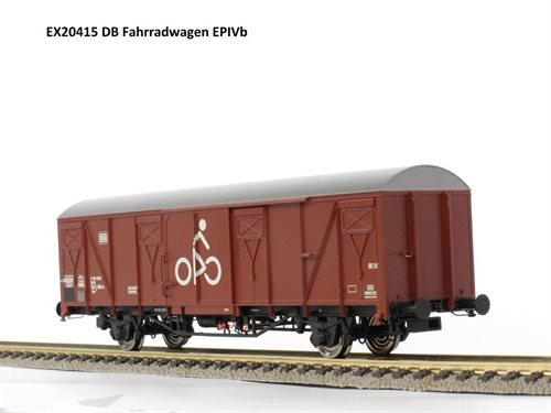 Exact-train 20415 DB Lukket godsvogn Gbs 254 Cykelvogn, Ep IV, H0 NYHED 2018